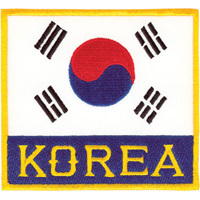 Tiger Claw Korean Flag with Korea Patch - 3 1/2