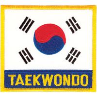 Tiger Claw Korean Flag with Taekwondo Patch - 3 1/2