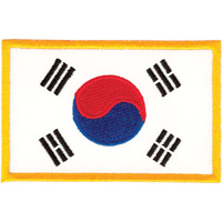 Tiger Claw Korean Flag Patch - 3 1/2