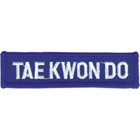 Tiger Claw Taekwondo Rectangular Patch - 3