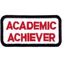 Tiger Claw Academic Achiever Rectangular Patch - 3