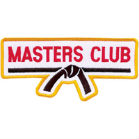 Tiger Claw Masters Club With Belt Rectangular Patch - 4 1/2