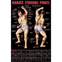 Tiger Claw Karate Striking Points Poster
