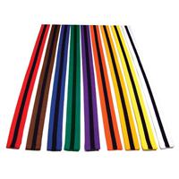 Tiger Claw Color Martial Arts Belt with Black Stripe