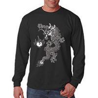 Tiger Claw Dragon Design Long Sleeve T-Shirt