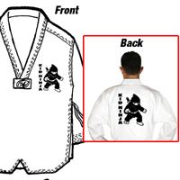 Tiger Claw Essential Taekwondo V-Neck Uniform - Kid Ninja