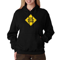 Tiger Claw Future Black Belt on Board Hooded Sweatshirt