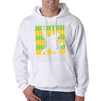 Tiger Claw Jujitsu Silhouette Green and Yellow Hooded Sweatshirt
