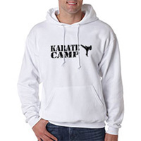 Tiger Claw Karate Camp with Kicker Hooded Sweatshirt - Black Logo
