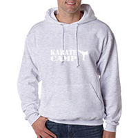 Tiger Claw Karate Camp with Kicker Hooded Sweatshirt - White Logo
