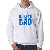 Tiger Claw Karate Dad Hooded Sweatshirt - Blue Logo
