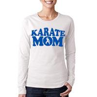 Tiger Claw Karate Mom Long Sleeve T-Shirt - Blue Logo
