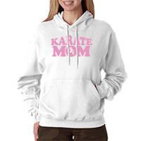 Tiger Claw Karate Mom Hooded Sweatshirt - Pink Logo