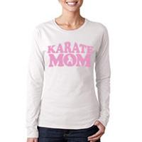 Tiger Claw Karate Mom Long Sleeve T-Shirt - Pink Logo