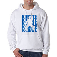 Tiger Claw Karate Silhouette Hooded Sweatshirt - Blue Logo