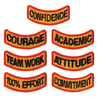 Tiger Claw Kid Tigers Patches: Mental Achievements