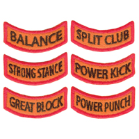 Tiger Claw Kid Tigers Patches: Physical Achievements