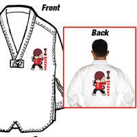 Tiger Claw Lightweight Poly/Cotton Taekwondo V-Neck Uniform - Kid Monkey