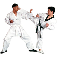 Tiger Claw Lightweight Poly/Cotton Taekwondo V-Neck  Uniform