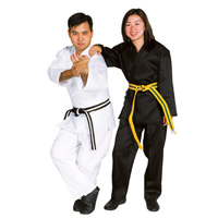 Tiger Claw 8oz Medium Weight Poly/Cotton Traditional Karate Uniform