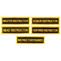 Tiger Claw Rectangular Instructor Patches