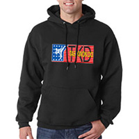 Tiger Claw Red, White, and Blue TKD Hooded Sweatshirt
