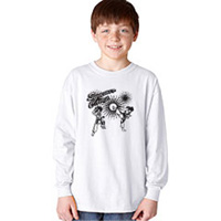 Tiger Claw Summer Camp Anime Style Long Sleeve T-Shirt