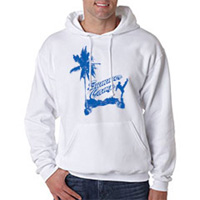 Tiger Claw Summer Camp Front Snap Kick with Palm Tree Hooded Sweatshirt