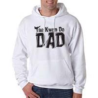 Tiger Claw Tae Kwon Do Dad Hooded Sweatshirt - Black Logo