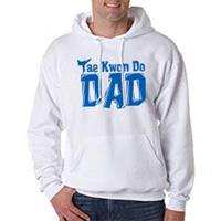 Tiger Claw Tae Kwon Do Dad Hooded Sweatshirt - Royal Blue Logo