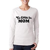 Tiger Claw Tae Kwon Do Mom Long Sleeve T-Shirt - Black Logo
