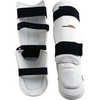 Tiger Claw White Vinyl Shin-Instep Guard