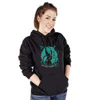 Tiger Claw Year of the Snake Black  Hooded Sweatshirt