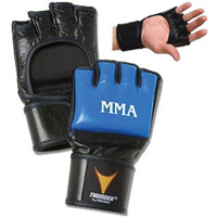 ProForce Thunder Blue / Black Leather MMA Gloves