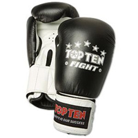 Top Ten Fight Gloves - 10 oz Black