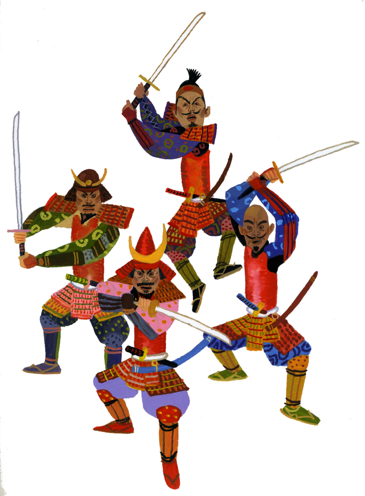 Four Samurai Of Anegawa