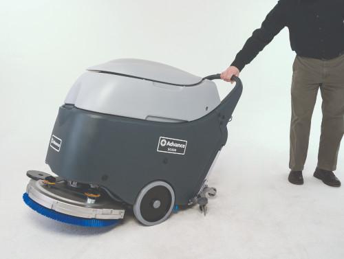Tip the Advance SC450 Floor Scrubber for easy transport