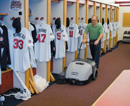 The Terra 28B cleaning in an MLB locker room