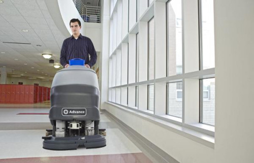 SC750 cleaning in a hospital