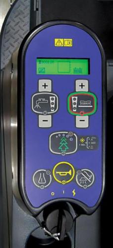 Advenger floor scrubber Controls