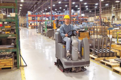 Adgressor cleaning in a manufacturing facility