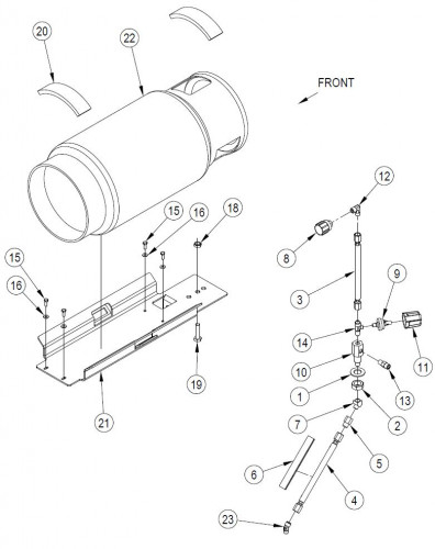 Kubota Fuel Filter Mount