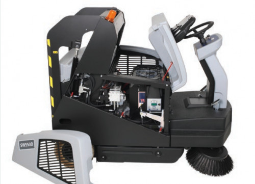 Easily service the SW5500 floor sweeper due to MaxAccess