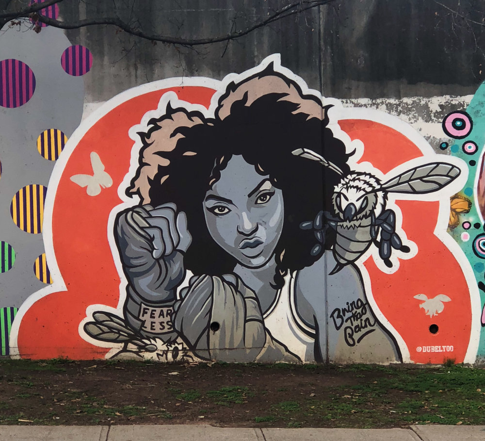 mural in Atlanta by artist dubelyoo