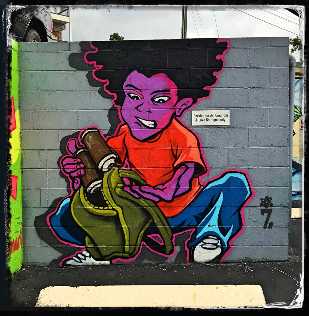 mural in Chattanooga by artist Seven