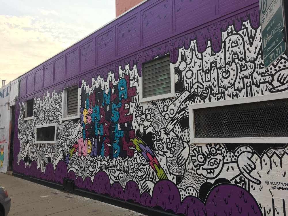 mural in Chicago by artist Lauren Asta