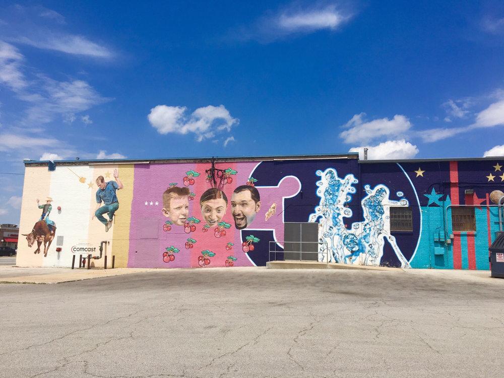 mural in Berwyn by artist Jeff Zimmermann