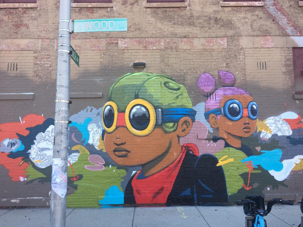 mural in Chicago by artist Hebru Brantley