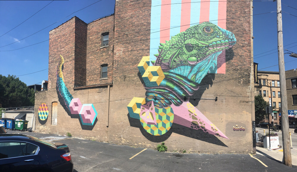 mural in Chicago by artist Jerry Rugg