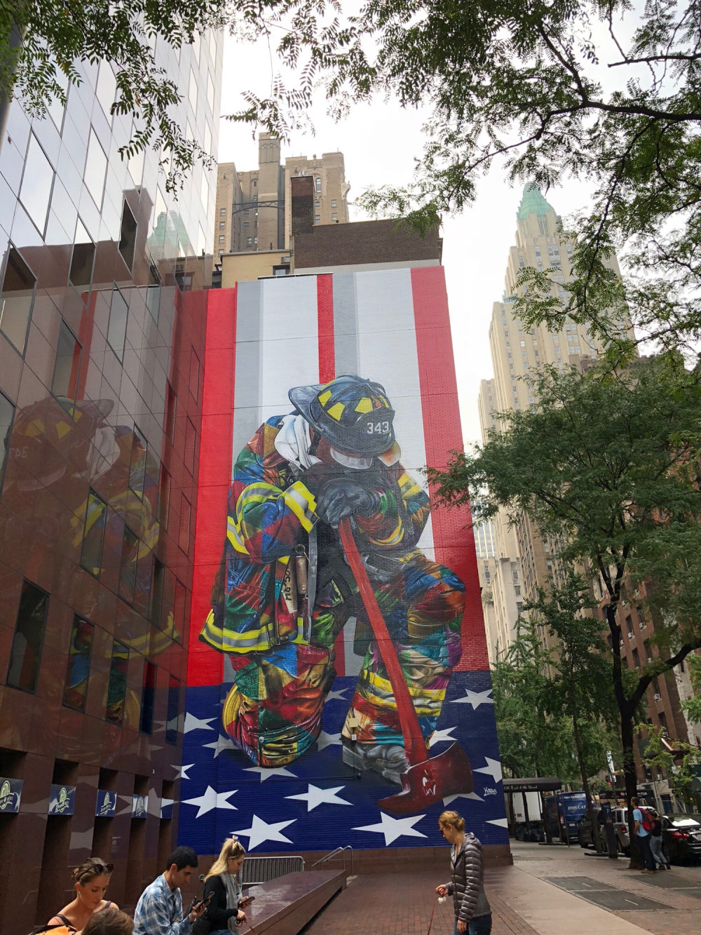 mural in New York by artist Eduardo Kobra